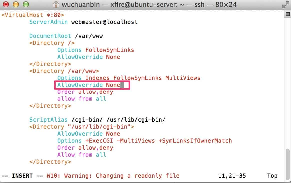 Ubuntu系统下允许Apache的mod_rewrite功能-1