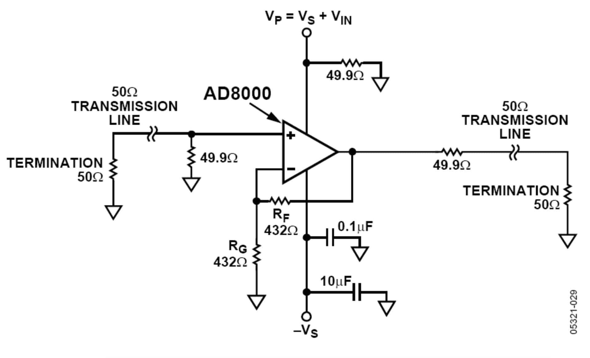 图13:AD8000正PSRR测试设置