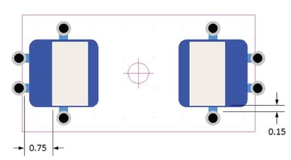 Figure 4: Typical 0603 via fanout