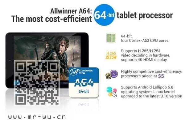 ARM即将全面普及64-bit只需5美金的全志(Allwinner)处理器来了