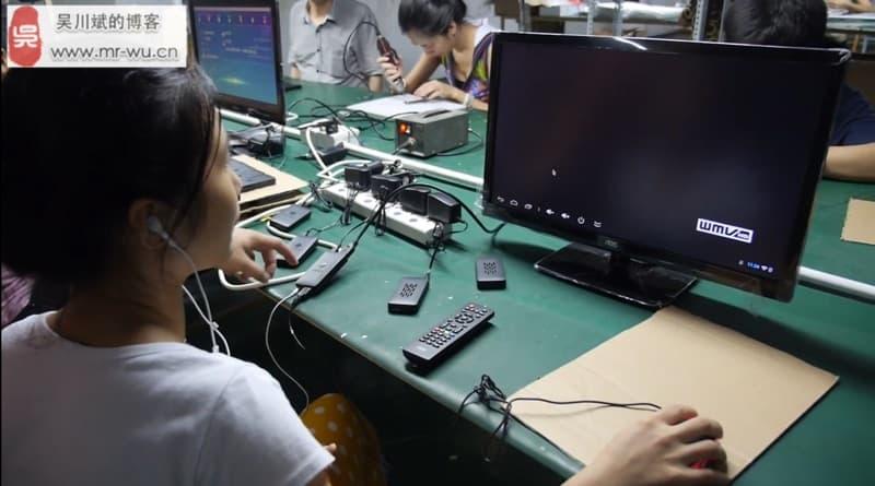 [视频]瑞芯微RK3188 Mini PC HDMI Stick  产线参观视频