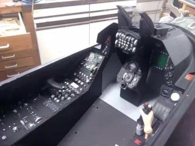 制作F16飞机模型38