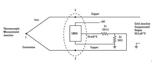 将LM35用于热电偶冷接点补偿