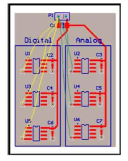 图 19. 在 PCB 布局上绘制返回路径