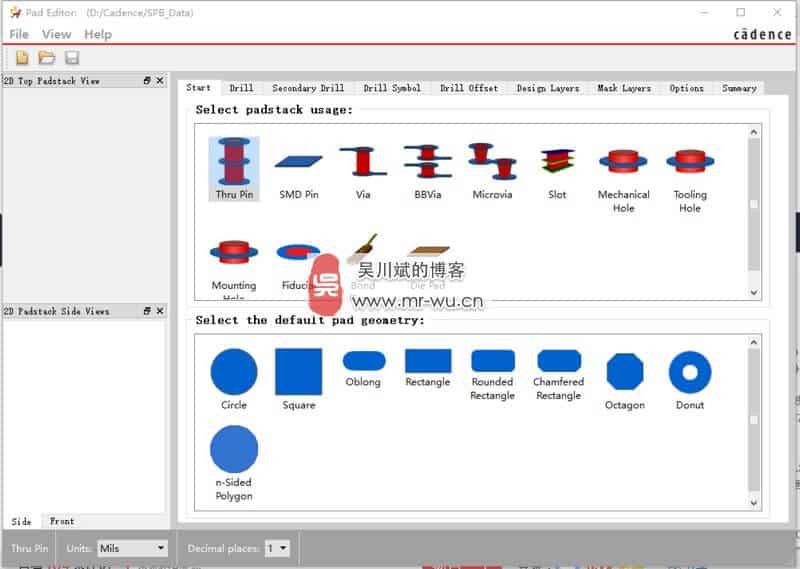 Cadence SPB OrCAD Allegro 17.2 吴川斌的博客独家版-新的 Padstack 制作工具